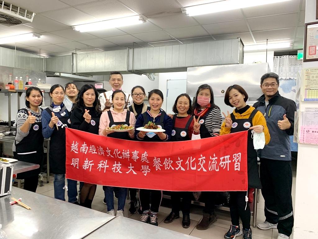 美味外交 明新科大與越南辦事處舉辦中餐烹飪教學
