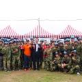 全民國防課程 軍訓室辦「明新零零漆」漆彈競賽